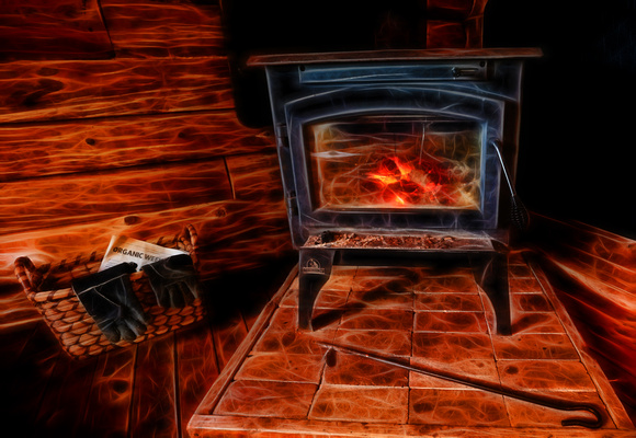 Week 52:  Favorite Photo....The fireplace in my cabin in the Kingston Penisula