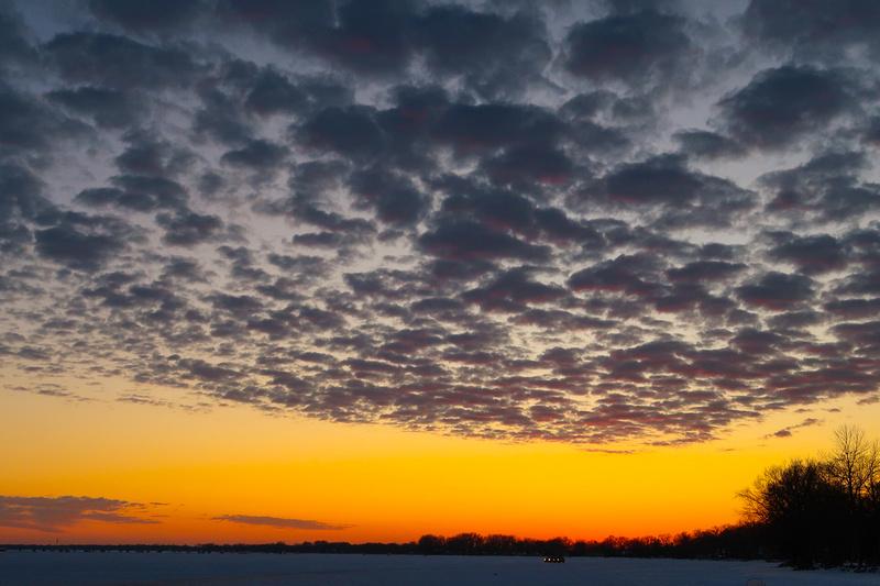 PAD Feb 13 Sunset on Lake Winnebago, Waverly Beach