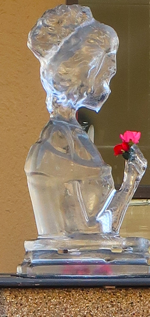 PAD Feb 15 Ice Sculpture with a Rose