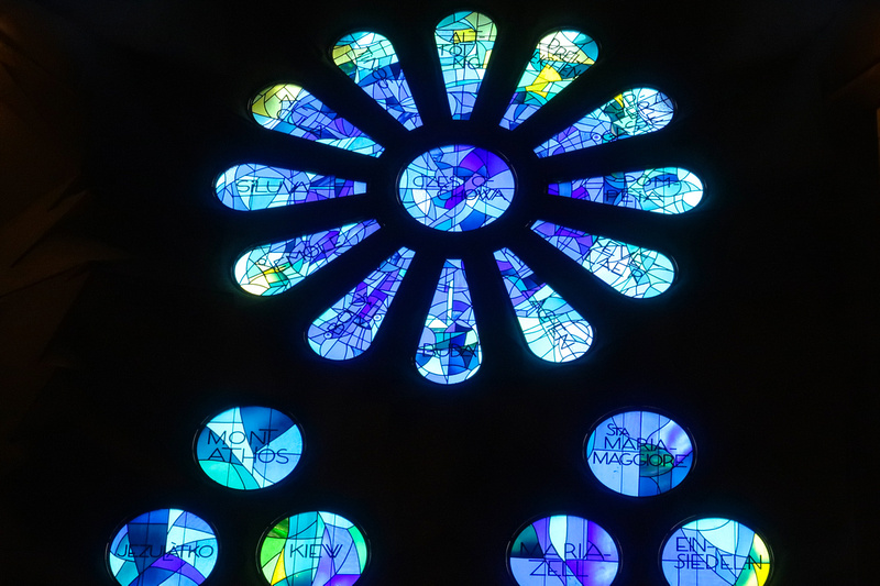 Stained Glass within Sagrada Familia