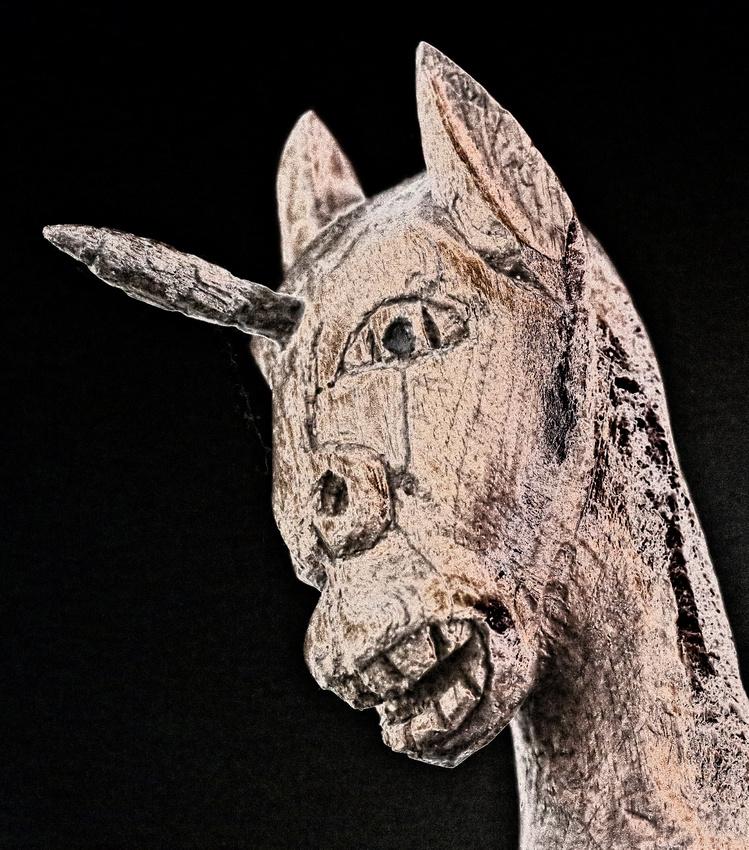 Week 13:  Wooden Unicorn Solarized